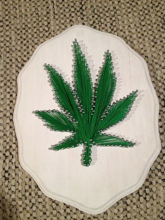 String nail art: marijuana leaf by Wanderhippie on Etsy | Marijuana ...