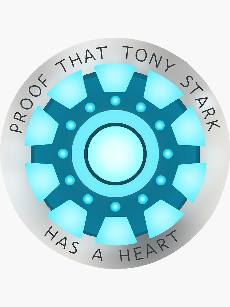'Tony Stark Has A Heart' Sticker by coolbr4nd in 2020