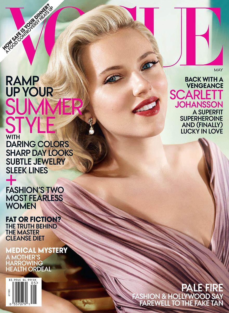 Scarlett Johansson by Mario Testino for Vogue US May 2012