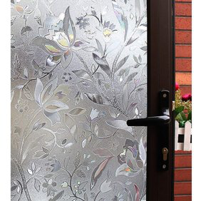 Home Decorative Window Film Painted Window Art Stained Glass Door