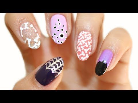 5 Halloween Nail Designs 5 Easy Halloween Nail Art Designs For