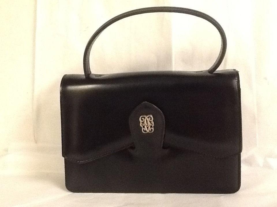 Dofan Handbag Made In France Black Small Purse Vintage