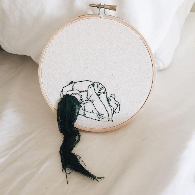 Los preciosos bordados de Sheena Liam que se salen de la tela | alba ...