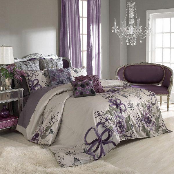 Purple Green And Grey Purple Bedroom Ideas Purple