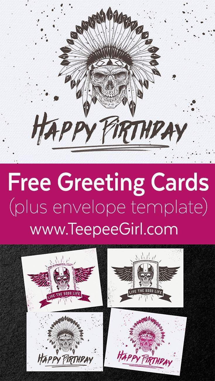 Free skull greeting cards pinterest free printables crafty and free free skullbiker greeting cards comes in two colors and includes a free envelope m4hsunfo