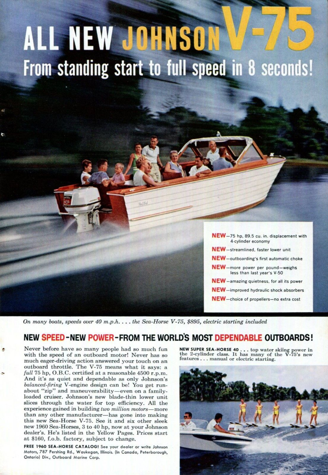 1960 Johnson Outboard Motor Ad