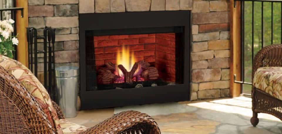 The BBV fireplace system from Wilshire Fireplace Shop offers a 36
