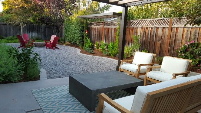 Grassless backyard low maintenance affordable landscapes for Low maintenance yard ideas and pictures