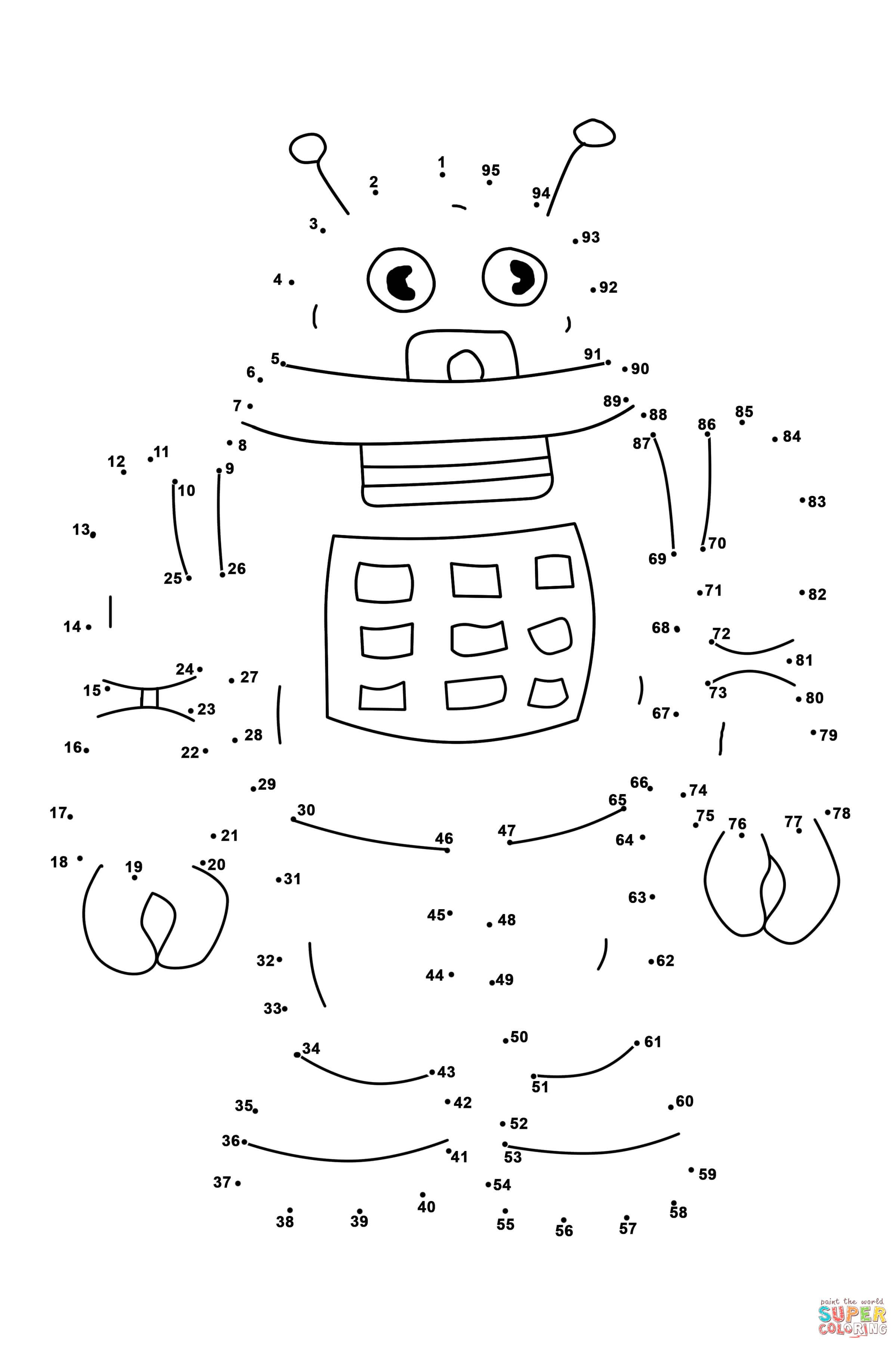 Coloring pictures robot - Robot Super Coloring