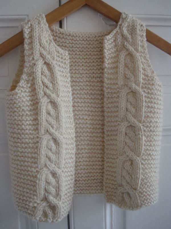 gilet sans manche garcon a tricoter