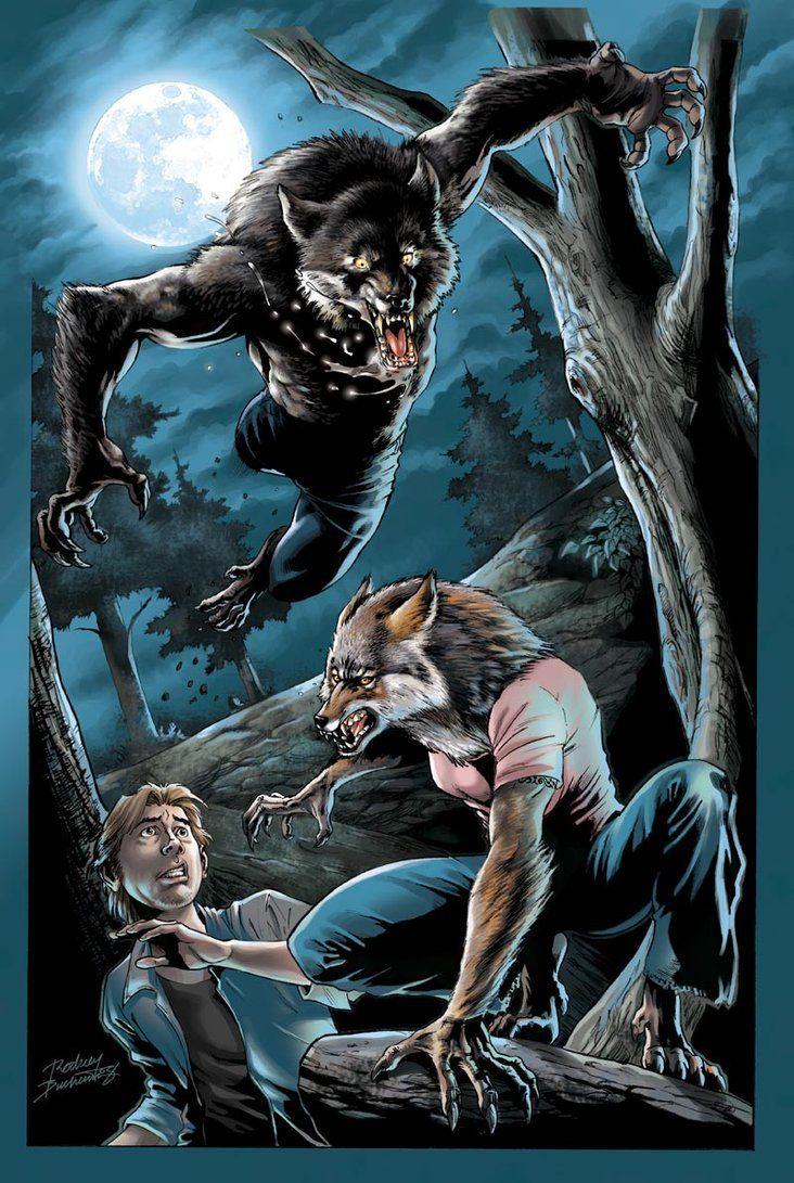 Werewolf pinup_colors by Buchemi | Werewolves, Skinwalkers ...