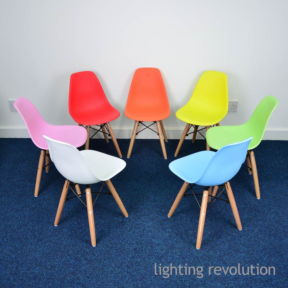 Kids Children Dining Chair Eames Inspried DSW 7 Colours Red Blue Pink Green  In Home, Furniture U0026 DIY, Furniture, Chairs