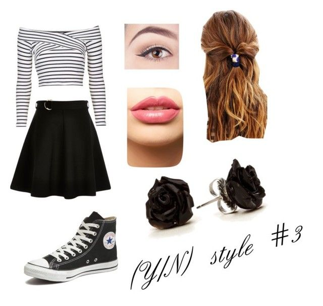 """""""(Y/N) style #3"""" by the-super-cool-muggle ❤ liked on Polyvore featuring Topshop, River Island, Converse, LASplash and Urban Outfitters"""