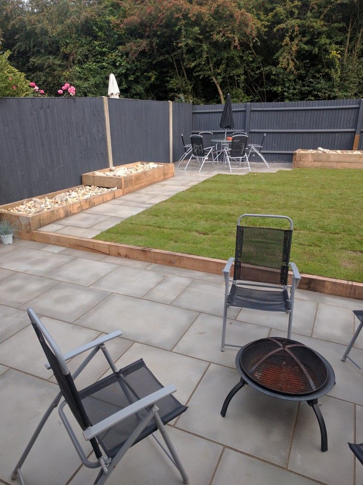 Contemporary Easy To Maintain Garden Raised Boarders 400 x 300