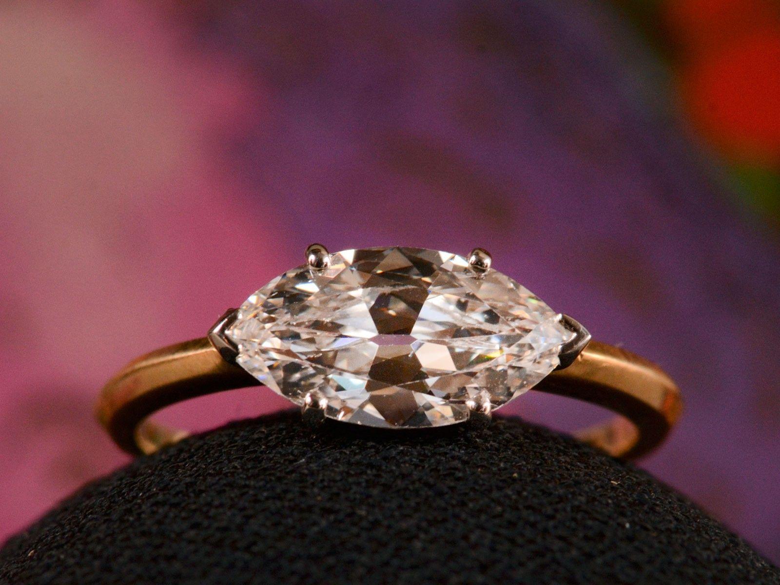Marquise diamond setting ideas - Eb 1 51ct East West Marquise Diamond Ring