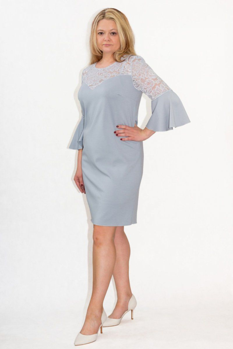 ac944e9870 Elegancka sukienka XXL 40-60 na wesele PAOLA duże rozmiary - XELKA ...