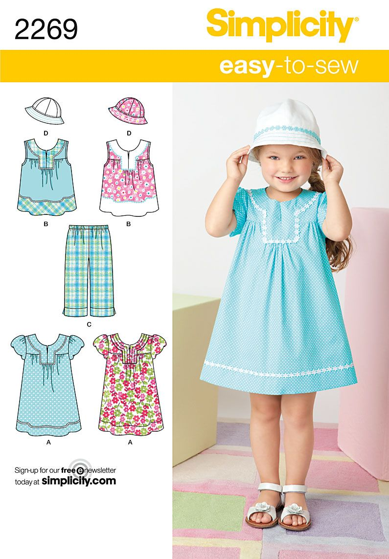 Simplicity pattern 2269: Child's Easy to Sew Dress, top, cropped ...
