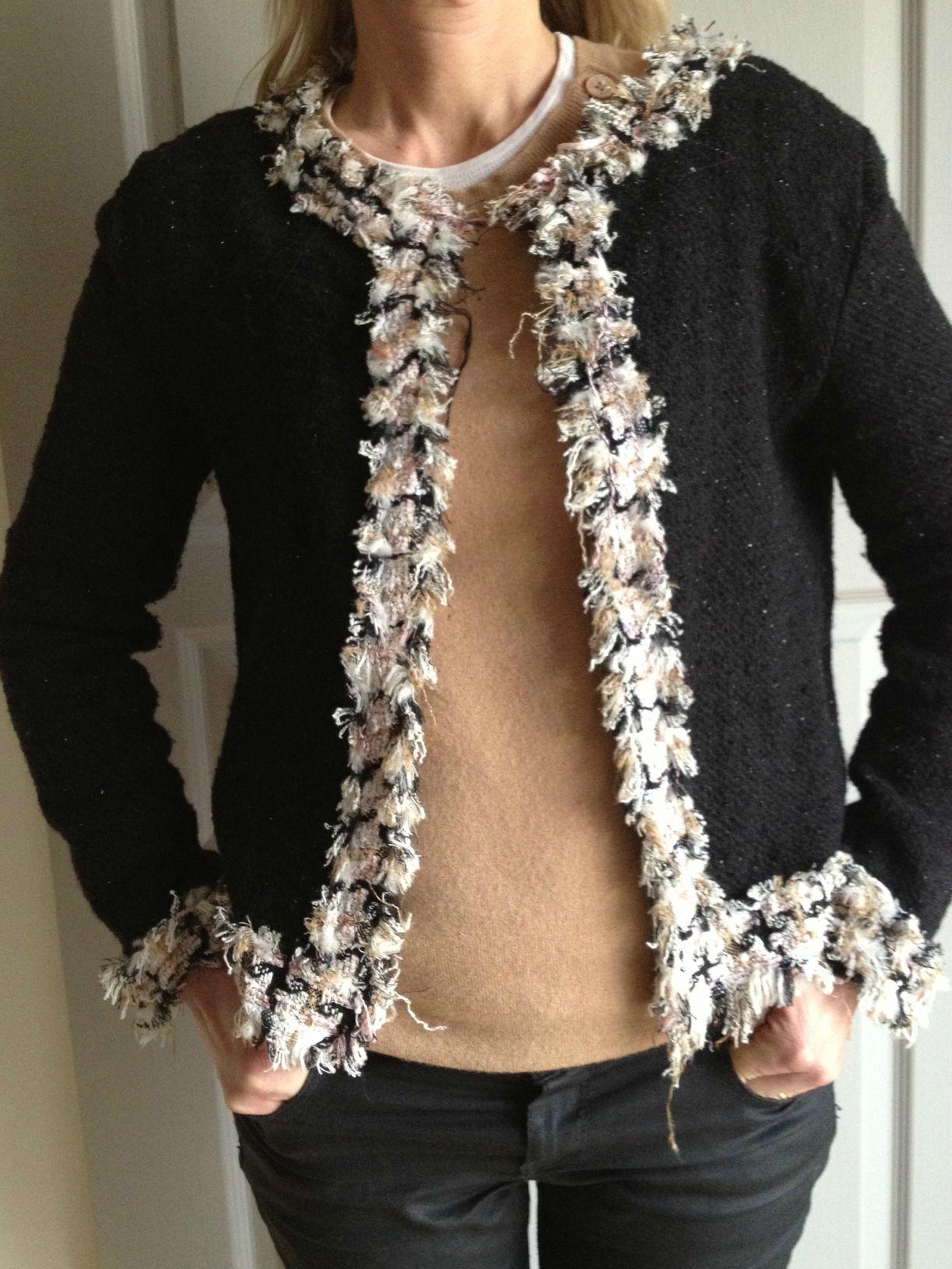 modele tricot veste style chanel