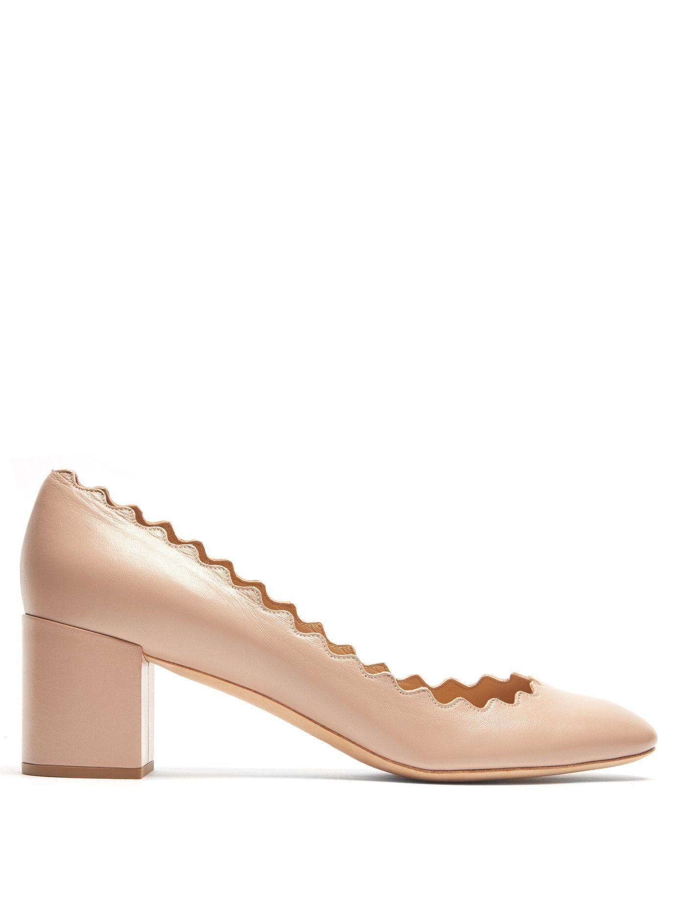 456360587 Lauren scallop-edge leather pumps | Chloé | MATCHESFASHION.COM US ...