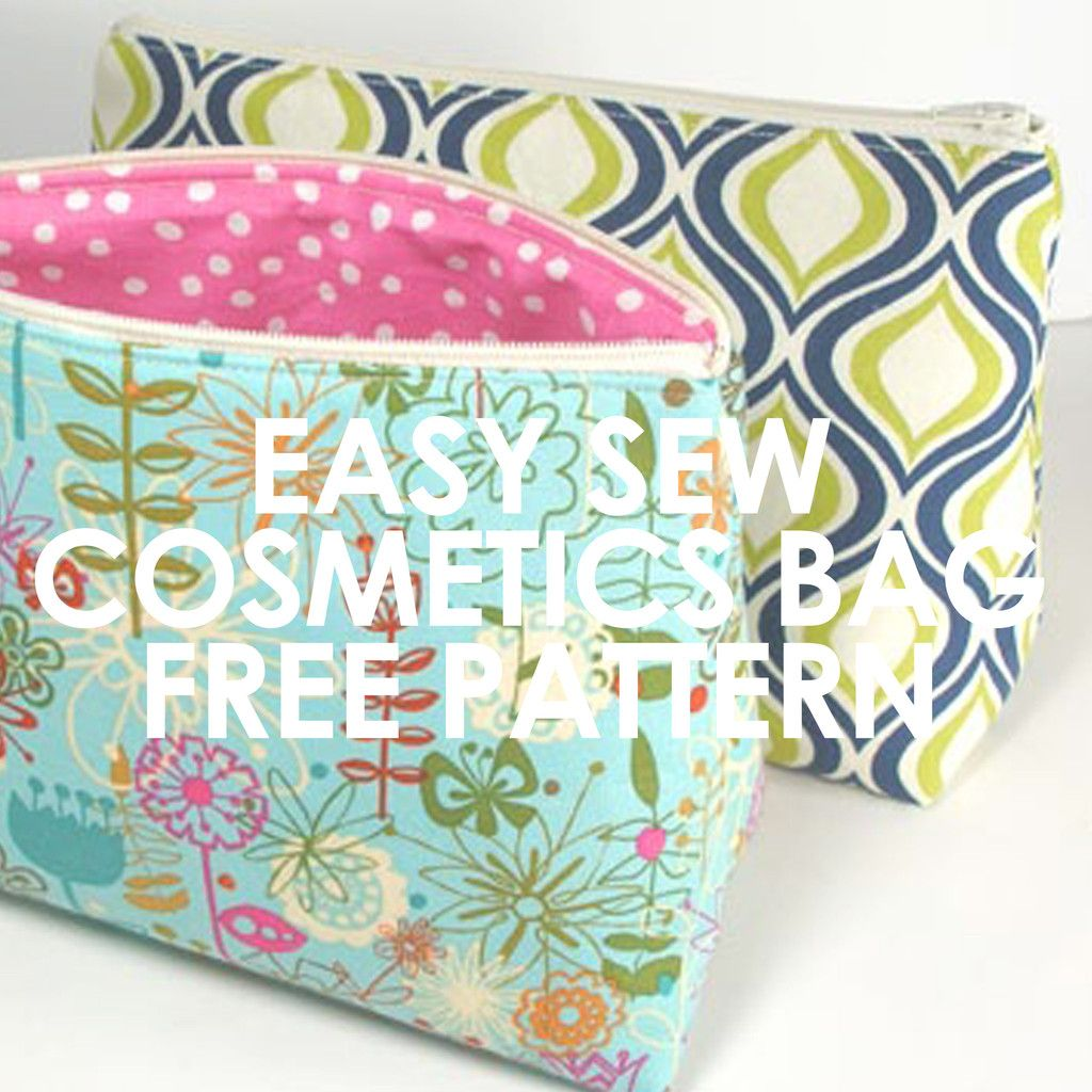 FREE PATTERN! This handy and easy to sew cosmetics bag can