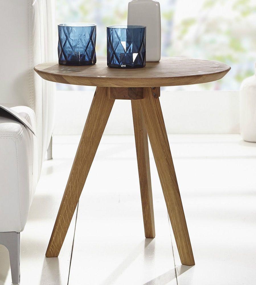 Couchtisch Tisch Beistelltisch 50cm Massivholz Holz Wildeiche Eiche Neu Ovp Couchtisch Beistelltisch Eiche Beistelltisch Rund Holz