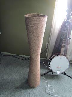 Make A Floor Vase Diy Vase Floor Vase Rope Projects