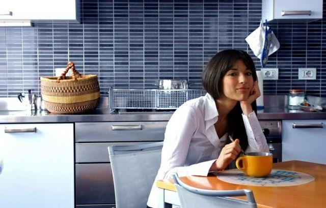 Spritzschutz PVC Folie aufkleben abwaschbar praktisch hinter Küche