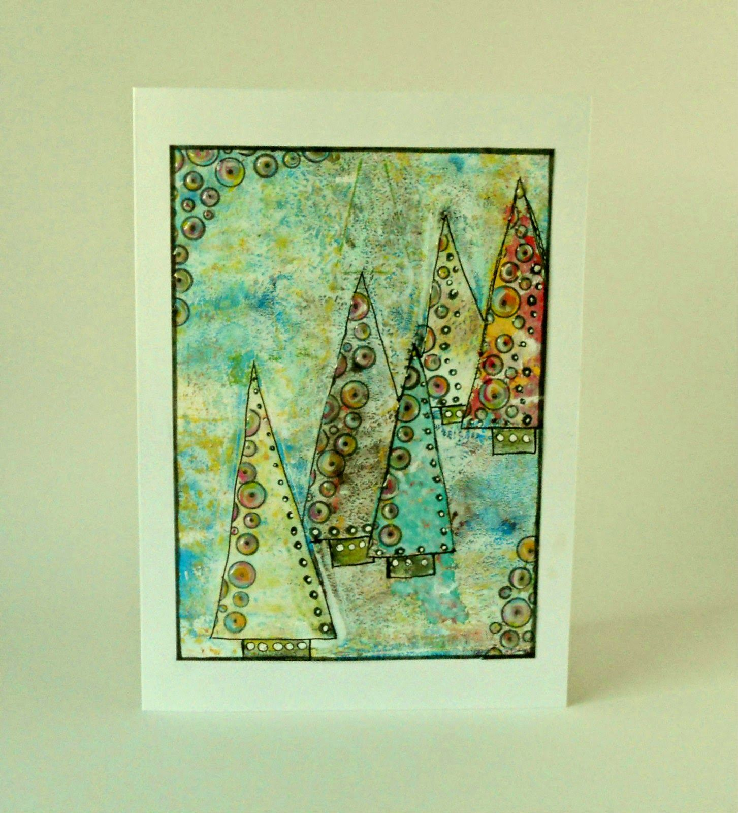 Christmas card with my gelli printing plate by itsamistry design itsamistry design studio christmas card with my gelli printing plate tutorial my way baditri Gallery