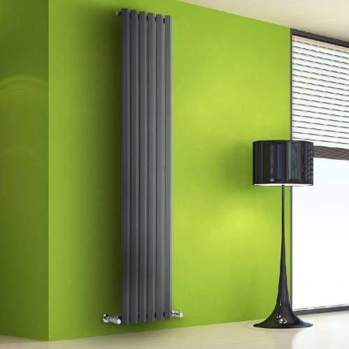 Designheizkörper Vertikal Vital Anthrazit - 941 Watt - 1780 x 420 - design heizkörper wohnzimmer