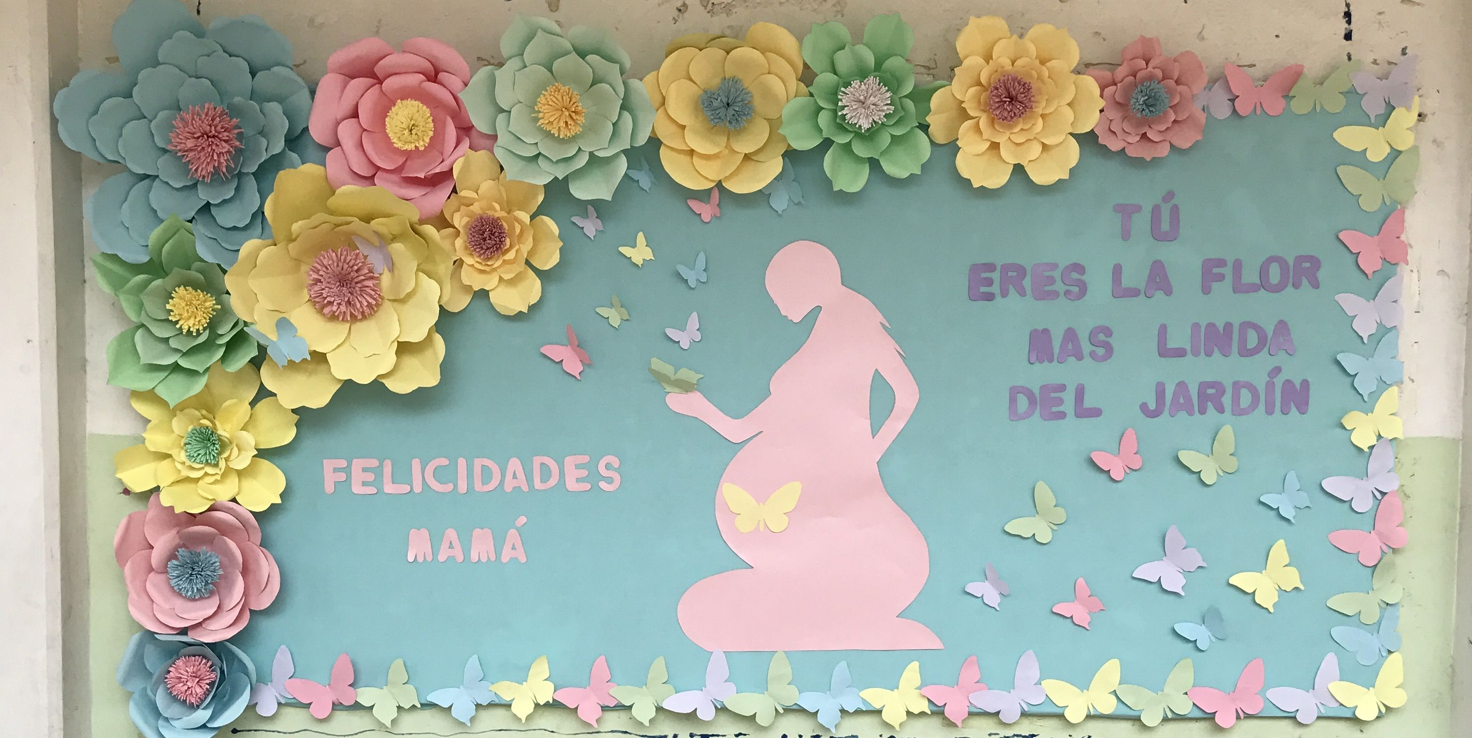 Mampara del día de las madres | escuela y ideas de organizar in 2018 ...