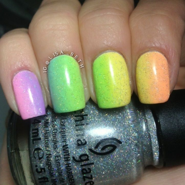 Rainbow Gradient! All Lime Crime polishes used for the rainbow topped with China Glaze - Fairy Dust #LimeCrime #ChinaGlaze #SephoraNailSpotting