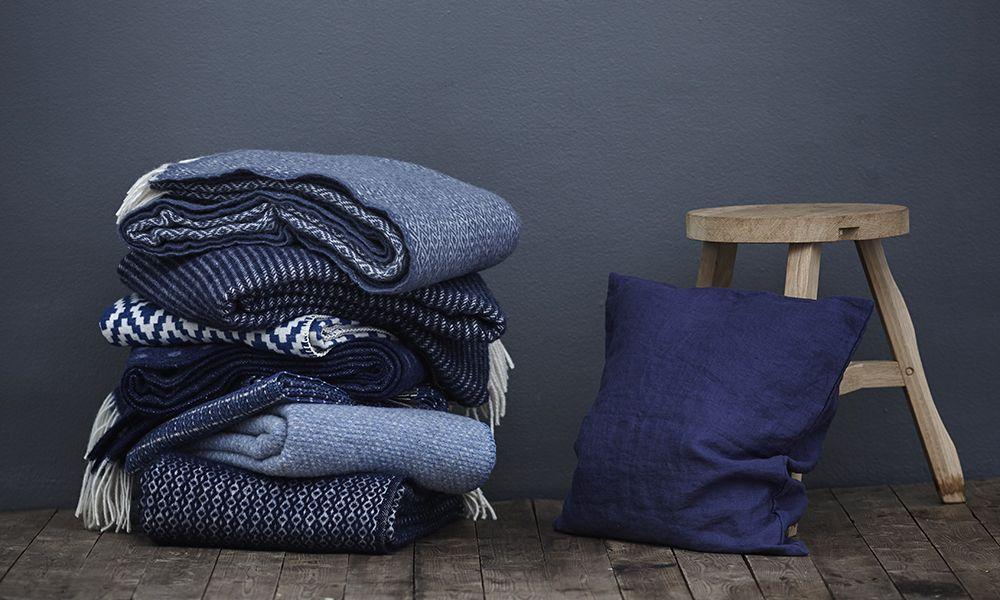 Wolldecken Und Baumwolldecken Von Klippan Yllefabrik Aus