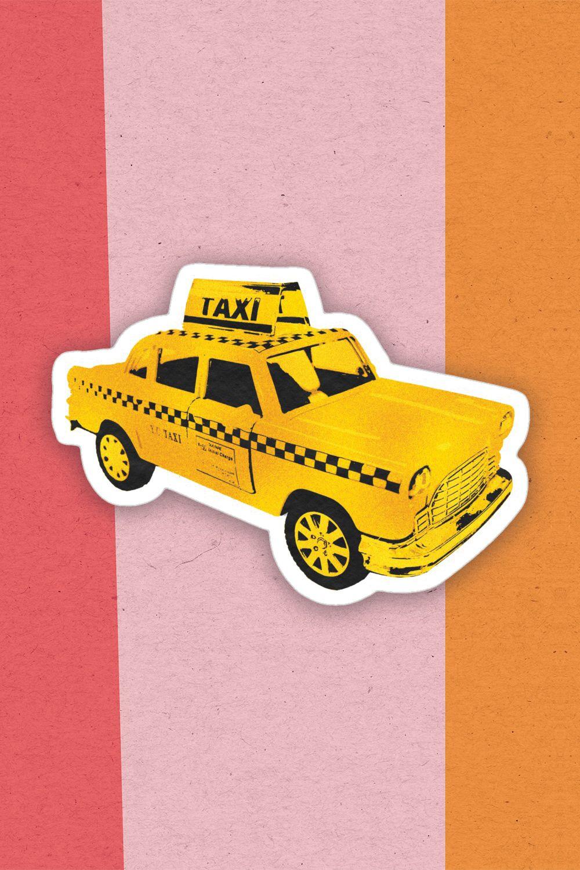 Golden Nyc Taxi Sticker Taxi Stylish Art Nyc [ 1500 x 1000 Pixel ]
