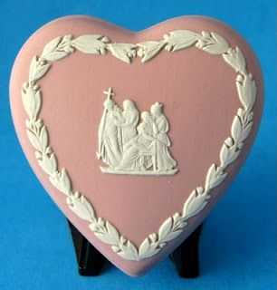 Wedgewood Jasperware heart.