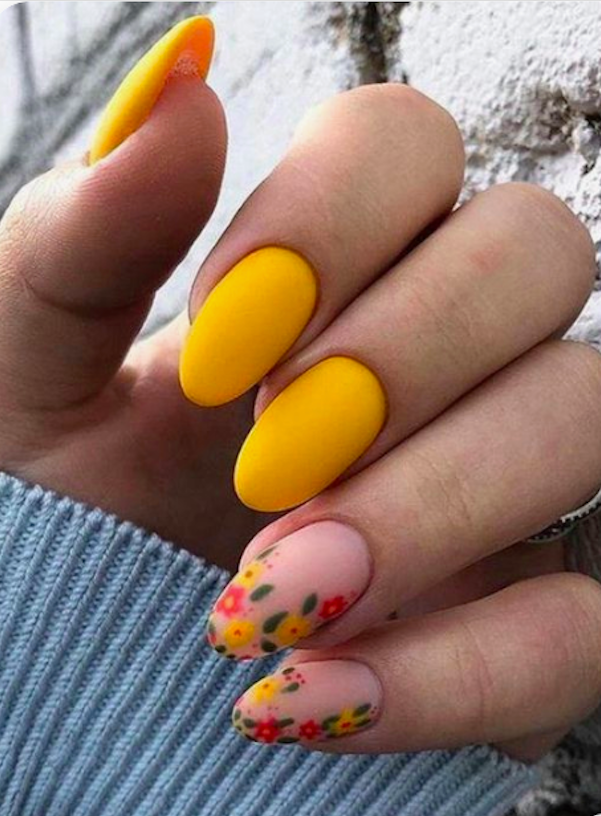 60+ Yellow Nails with Gel and Matte in Oval and Coffin Shapes – Page 4 of 10 – The First-Hand