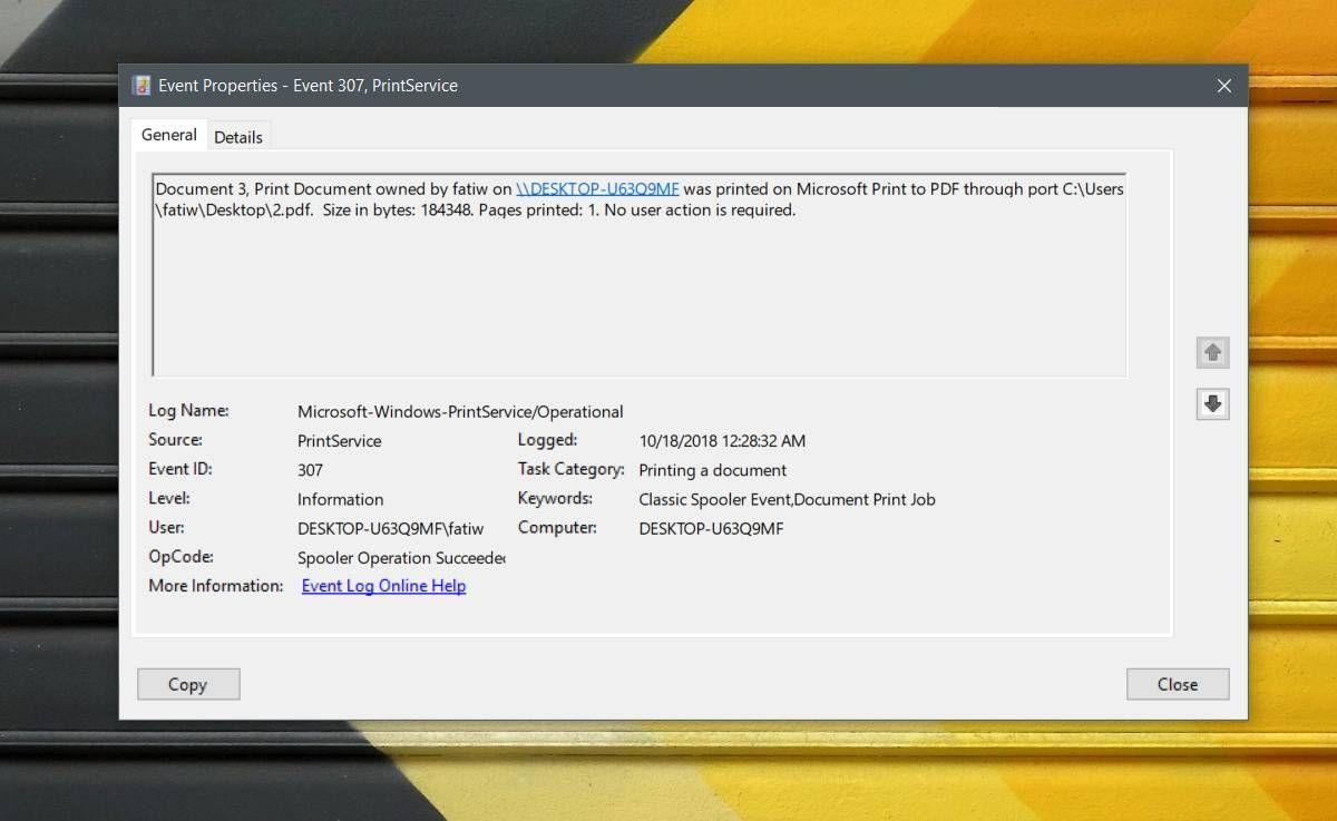How To Enable A Print Log On Windows 10 Windows Print 10 Things