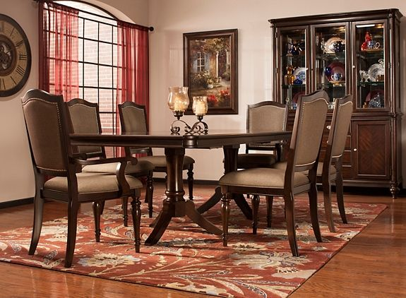 Dining Set   Dining Sets   Raymour and Flanigan Furniture. Bay City 7 pc  Dining Set   Dining Sets   Raymour and Flanigan
