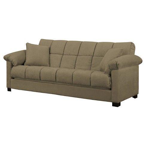 Enjoyable Maurice Microfiber Pillow Top Arm Convert A Couch Futon Sofa Pabps2019 Chair Design Images Pabps2019Com