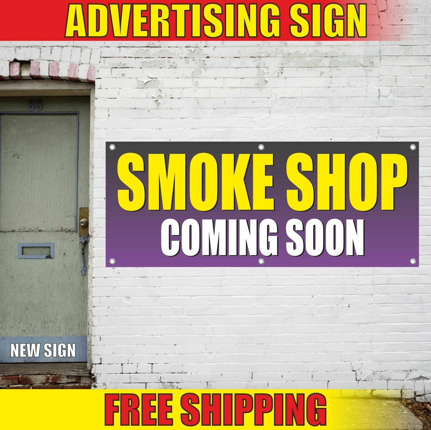 Smoke Shop Coming Soon Advertising Banner Vinyl Mesh Decal Sign Store Vape Cigs In 2020 Banner Advertising Mesh Banner Vinyl Signs