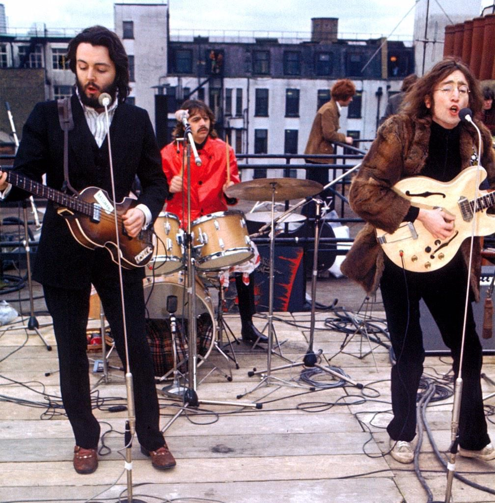 #TheBeatles got together on the roof of 3 Savile Row for their final public performance, #OTD 1969