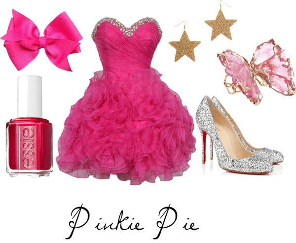 Pinkie Pie (My Little Pony Friendship is Magic) Inspired Outfit I know this will shock people who know me but this is just a little too pink for me - still cute though