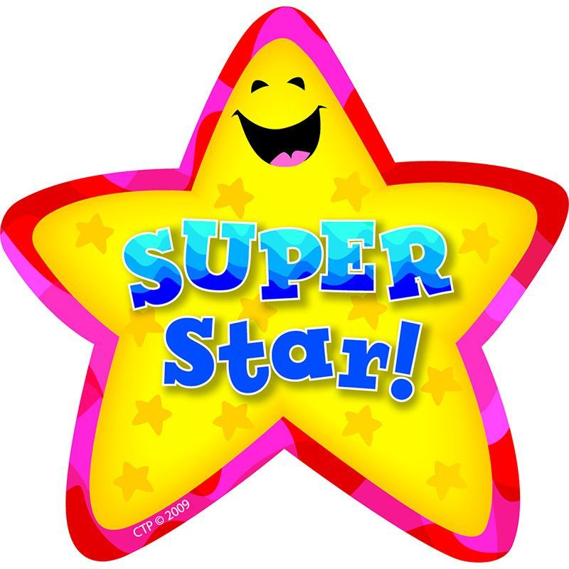star badges super star 36 pk badges star and adhesive rh pinterest com super star images clipart You Rock Clip Art