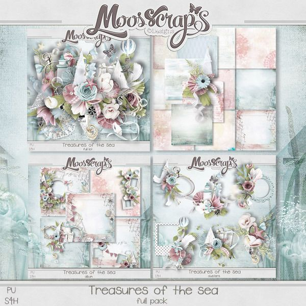 Treasures of the Sea by Moosscrap's Designs http://digital-crea.fr/shop/index.php?main_page=product_info&cPath=155_333&products_id=20704 http://www.oscraps.com/shop/product.php?productid=11013092&cat=849&page=1