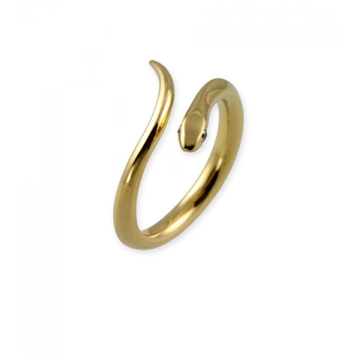 Jana Reinhardt Gold Plated Silver Snake Hoop Earrings With Black Diamonds bVaEcM2JS