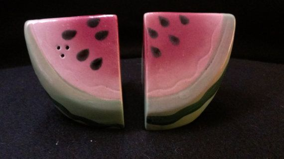 Watermelon Salt and Pepper Shakers (480) | Pepper and Table settings