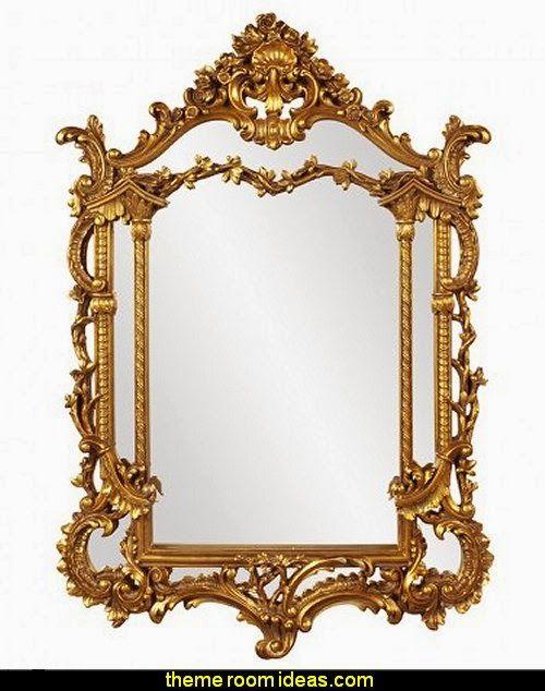Howard Elliott Arlington Gold Baroque Mirror Princess bedroom Furniture