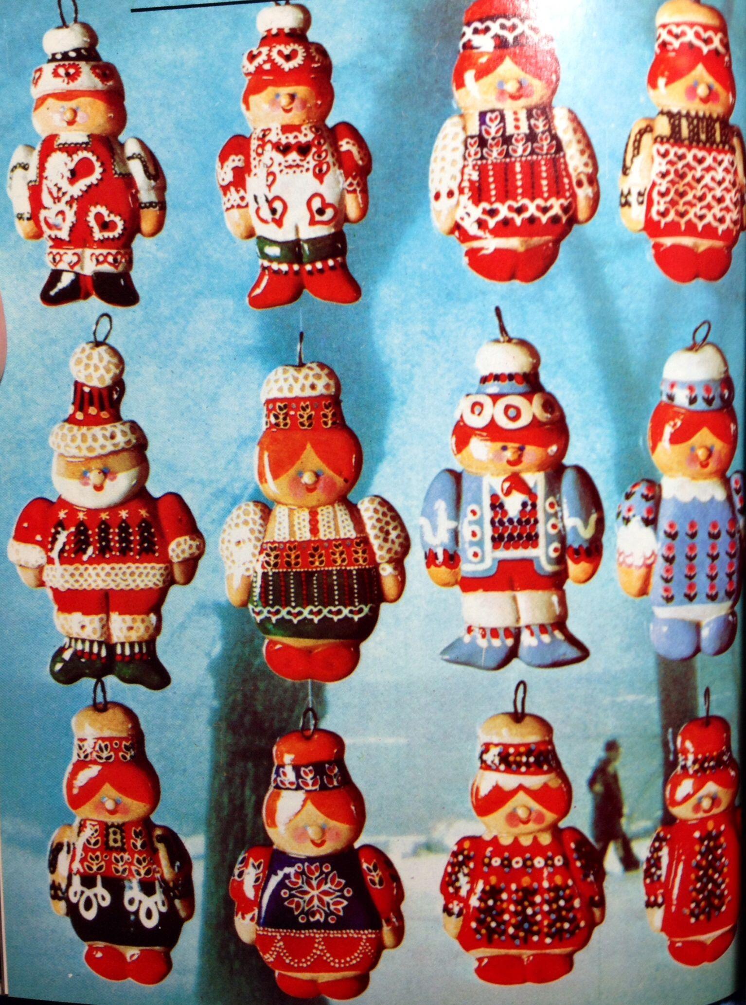 Adorable Dough Art People Christmas Ornaments Could Use Salt Dough, No  Crust White Bread
