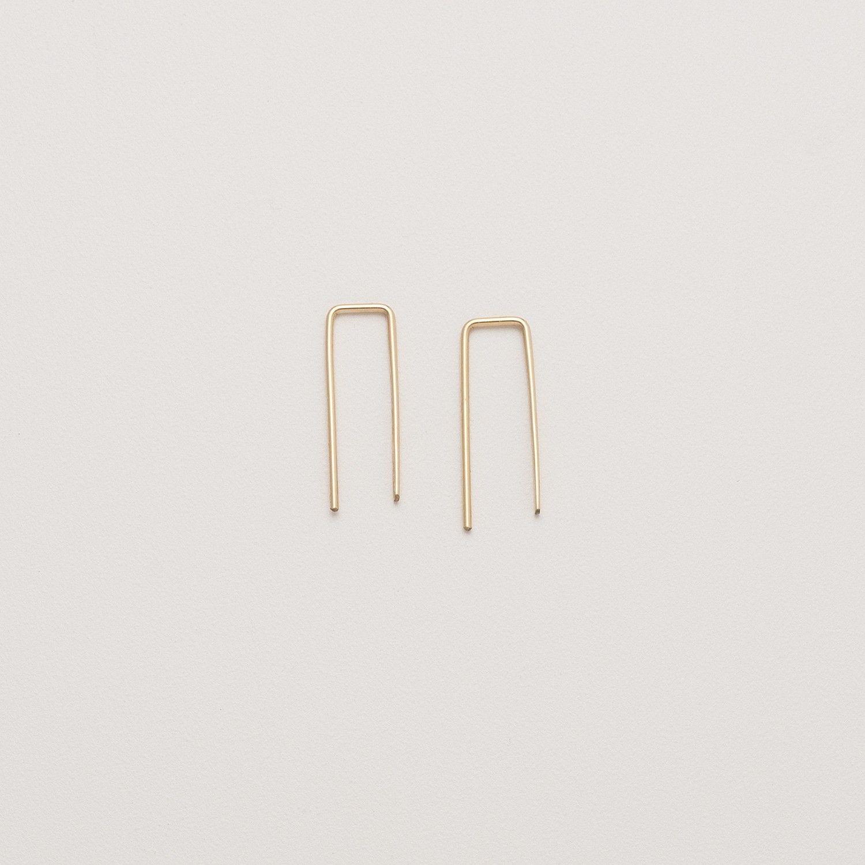 Squared Loop Earrings Loop Earrings Earrings Jewelry