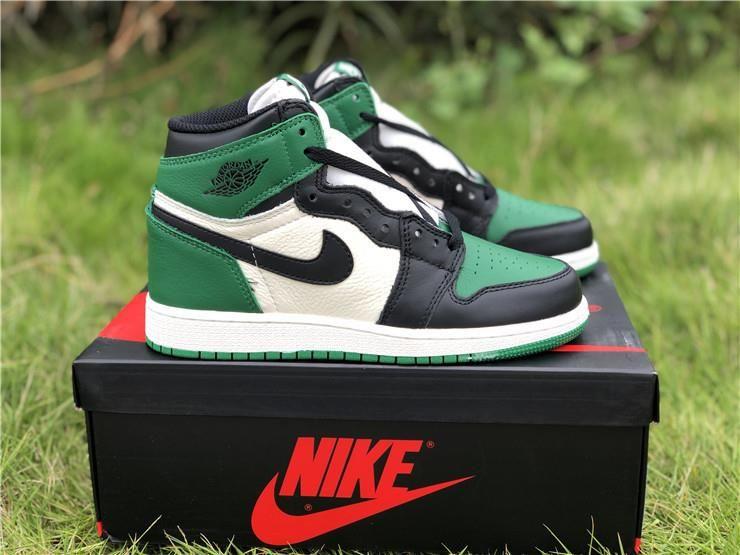 Air Jordan 1 Retro High Og Gs Pine Green Aj01 575441 302 In