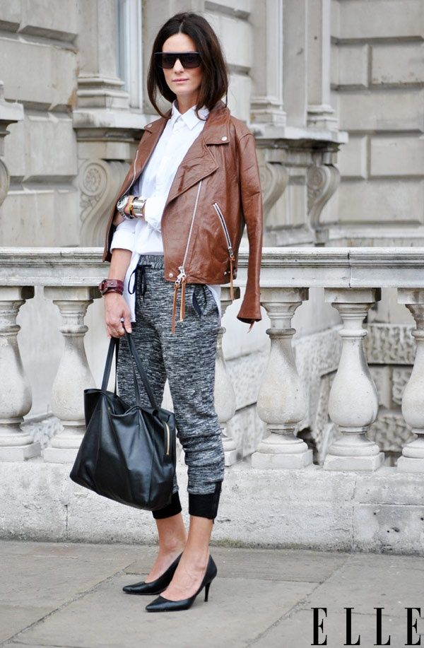 Comment porter la veste en cuir marron